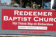 New Monument Sign for Redeemer Baptist Church in Plano, TX