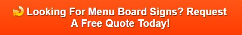 Menu Board Sign in Hurst TX